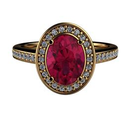 Charlotte Ruby Halo Ring