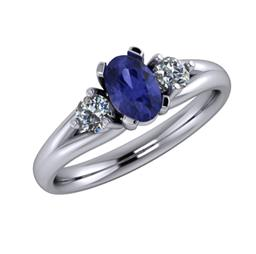 Kenzie Tanzanite Trilogy Ring